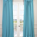 Turquoise Blue Doublewide Blackout Curtain