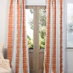 Flambe Orange Blackout Curtain