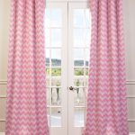 Pink Chevron Grommet Blackout Curtain