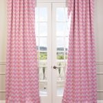 Pink Chevron Blackout Curtain