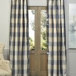 Devon Plaid Designer Silk Curtain