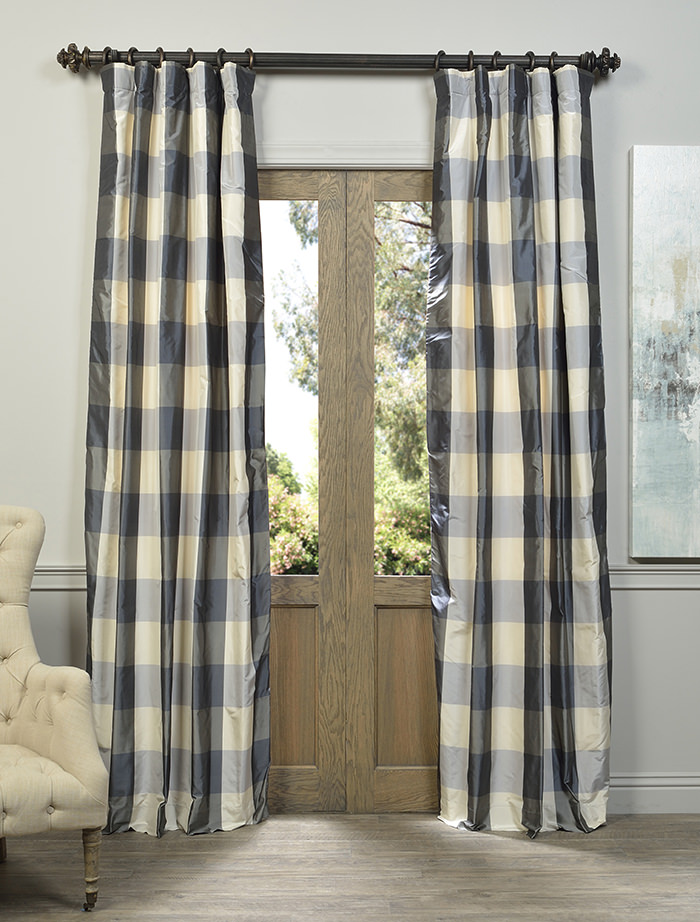 tiebacks tailored curtains drapes tailoredpanel com plaid bestwindowtreatments morrison with