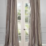 Brighton Grey Silk Stripe Curtain