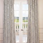 Ankara Silver Embroidered Faux Silk Curtain