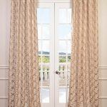 Meandering Vine Embroidered Faux Silk Taffeta Curtain