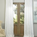 Willow White Embroidered Crewel Faux Linen Curtain