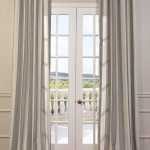 Bermuda Gray Grommet Linen Blend Stripe Curtain