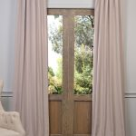 Latte Heavy Faux Linen Curtain