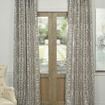 Radial Taupe Jacquard Curtain