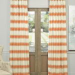 Tyler Rust And Cream Horizontal Stripe Jacquard Curtain
