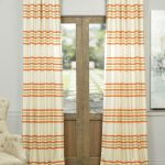 Madison Rust And Cream Horizontal Stripe Jacquard Curtain