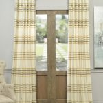 Madison Pastal Yellow And Cream Horizontal Stripe Jacquard Curtains