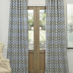 Cascade Blue Faux Silk Jacquard Curtain