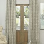 Ayr Taupe Grey Faux Silk Jacquard Curtain