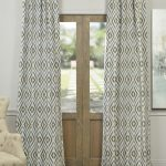 Dart Blue Faux Silk Jacquard Curtain
