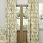 Dart Natural Faux Silk Jacquard Curtain