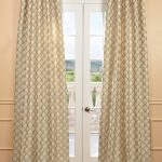 Davin Neutral Faux Silk Jacquard Curtain