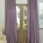 Smokey Plum Vintage Textured Faux Dupioni Silk Curtain