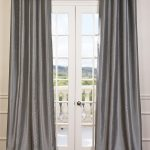 Storm Grey Blackout Vintage Textured Faux Dupioni Silk Curtain