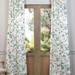 Dogwood Teal Printed Cotton Curtain