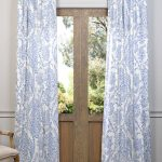 Paisley Blue Printed Cotton Curtain
