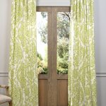 Paisley Green Printed Cotton Curtain