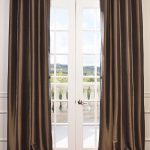 Mushroom Grommet Blackout Faux Silk Taffeta Curtain