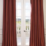 Paprika Grommet Blackout Faux Silk Taffeta Curtain