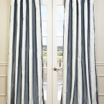 Midnight  Blue & Pearl Blackout Faux Silk Curtain