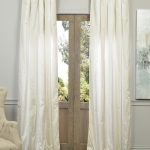 Iceland Faux Silk Taffeta Stripe Curtain