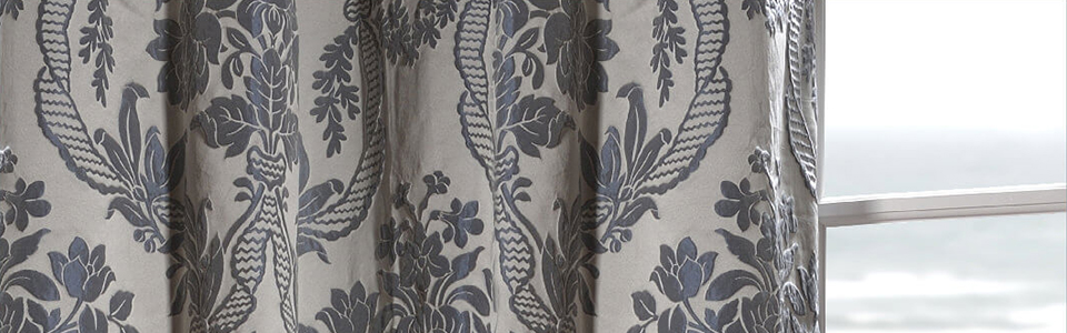 Pattern Faux Silk Curtains
