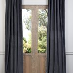 Grey Pine Cotton Velvet Curtain