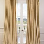 British Tan Doublewide Vintage Cotton Velvet Curtain