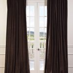 Kona Brown Doublewide Vintage Cotton Velvet Curtain